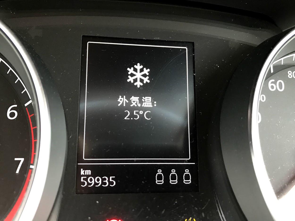 雪の警告マーク