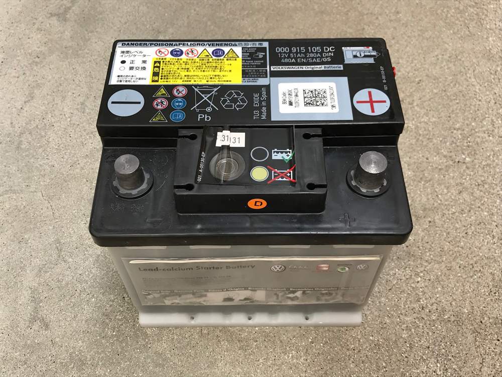 ポロのバッテリー