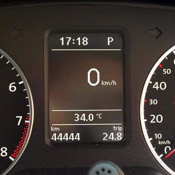 Polo GTI 44444km達成
