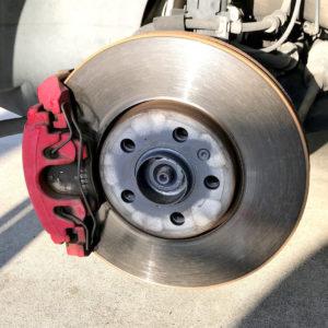 ポロGTI ブレーキダストがほとんど出ないIsweep社製ブレーキパッド