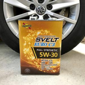 ポロ6Cのオイルを純正からSVLET 5W-30(VW504)へ交換